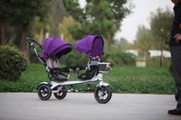Wholesale functional tricycle degree saddle tricycle for twins