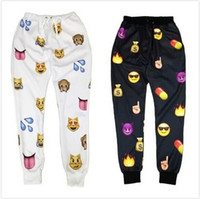 Wholesale Superb Clothing - New men Emoji print pants funny cartoon sweatpants black & white thicken loose joggers harem trousers sportswear female clothes SUPERB!