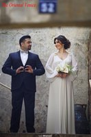 Cheap Greek Style Long Sleeves Wedding Dresses Best Garden Bridal Gowns