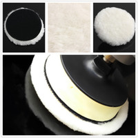 Wholesale New Car Van Valeting Polisher Buffer Wool Auto Truck Boat Polishing Tools Terry Bonnet Pad inch Magic Tapes