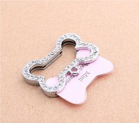 Wholesale dogs id cards Dogs Bones Shaped Crystal Photo Frame beautiful cats name id cards