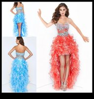 Cheap Short Front Long Back homecoming dresses Best Girls Cocktail Party Dress