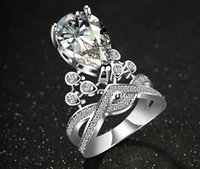 Wholesale 2016 new style finger rings silver crowned ring jewelry the high grade crown droplets rings the beauty princess crowned rings