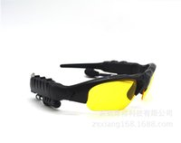 Wholesale 2016 Handsfree Night Vision Yellow Foldable Stereo Wireless Bluetooth Sunglasses for Outdoor sports and driving with Bluetooth