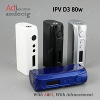 Wholesale Authentic IPV D3 w Temp temperature control box mod vs IPV3 Li ipv d2 ipv4s sigelei w tc ijoy asolo w ipv5