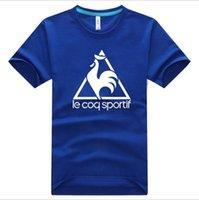 animals cock - 2016 New France cock Le Coq Sportif Men s short sleeved cotton T shirt short sleeve shirt fashion tide Hot