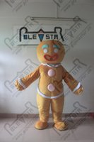 Wholesale gingerbread mascot costume hot sale Christmas game bread costumes cartoon breadman costumes hot sale festival costumes