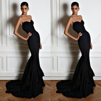 Cheap Black 2015 Evening Gowns chiffon Best Mermaid Zuhair Murad Sweetheart dresses