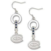 beautiful team - Factory Price a Zinc Alloy Material Beautiful Crystal Plated Team Logo Sport Name Charms Earring Jewelry