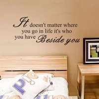 art matters - IT DOESN T MATTER WHERE YOU GO Quote Art Vinyl Wall Stickers Decal Home Decor UK