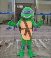 Wholesale HOT TMNT Party props Show costume Teenage mascot Mutant Ninja Turtle Mascot Costume Adult Character Costume cartoon mascot customized A028