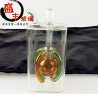 better tube - Classic square tube claw the ball glass hookah color random delivery glass hookah glass bongs large better