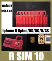 Wholesale r sim rsim r sim smartphone unlock box for iphone iphone plus unlocking micro sim unlock card for ios x x x fit s OTH031