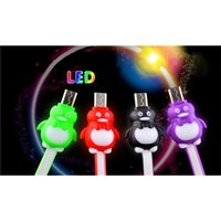 Wholesale Cheap Universal Phone Flex Cables Shine Cartoon Short LED Light UP Cord Line Durable Fashionable for Samsung HTC Sony LG