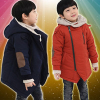 Wholesale HOT New Winter Children s Clothing For Boys and Girls Diagonal Zipper Thick Cotton Coat LX10