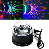 base ball usa - sunflower Stage lights laser projector LED rotated base led crystal magic ball light Disco DJ