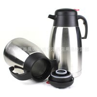 Wholesale flat Stainless Steel Thermos Pot double vacuum coffee pot tea kettle tea kettle restaurant KTV