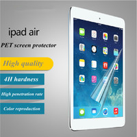 Wholesale High Quality clear screen Protectors PET Screen Protector for ipad air HD ultrathin Design