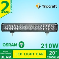 Wholesale 2PCs W Osram d led work light bar for offroad vehicles driving with spot flood combo beam optional