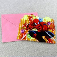 invitation letter - 2015 AAA quality color frozen spiderman boy girl kid birthday dinner party supplies invitation letter Invitation card topB1575