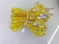 Wholesale colorful round transparent cheap mm AUX audio cables male to male Stereo Car Extension audio Cable for MP3 for phone mini