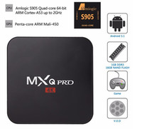 Wholesale MXQ Pro Amlogic S905 Quad Core Android TV Box DDR3 G Nand Flash G HDMI K i p XBMC Box