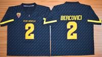 arizona ncaa - NCAA Arizona State Sun Devis Mike Bercovici Maroon Black white gray Embroidery logos College Football Jerseys Size S XL