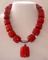 amazing gemstones - Amazing Red Cylinder Coral Beads Gemstones Fashion Jewelry Necklace quot AAA