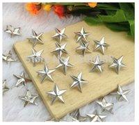 Wholesale 100pcs mm Silver Star Studs Metal Claw Beads Nailhead Punk Studs Rivet Spik Z095