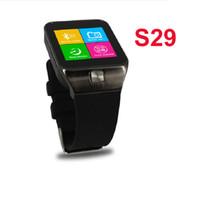 Wholesale 130M camera X240pixel touch screen android s29 smart watch FM MP3 Voice recorder multi language included