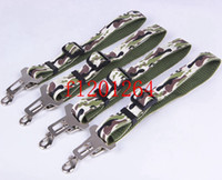 Wholesale Camo Dog Car Clip Camouflage Pet Safety Seat Belt Leads x75cm Free Fedex DHL Shipping