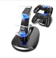 al por mayor cargador de juego-Dual Chargers Charger Dock Stand Station para Sony PlayStation 4 PS4 PS 4 X-box una consola de juego de juegos de control inalámbrico