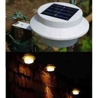 Wholesale Warm white LED Solar Powered Fence Light Outdoor Garden Wall Lobby Pathway Lamp Solar Panel Home Decor
