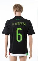 wholesale mexico - 15 Mexico Home Black Soccer Jerseys Top Thai Quality H HERRERA CHICHARITO America Cup Soccer Jersey Cheap Soccer Shirts for Men