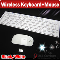Wholesale 2 GHz Meters Wireless Keyboard And Mouse Combos For PC Smart TV BOX Tablet PC Android Tv Ipad Air Ipad Macbook