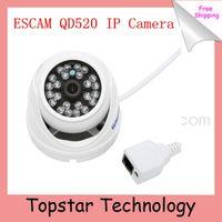 Wholesale 2014 Hot Camera Escam Peashooter QD520 Support Onvif P H CMOS mm Fixed Lens Night Vision P2P Mini Dome IP Camera