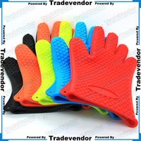 silicone oven glove - Kitchen Silicone Insulation Microwave Silicon Gloves Cooking Tools Utensils Bakeware glove Oven Mitts Potholder Pot Holder