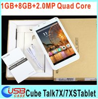 Cheap 7'' Inch Cube U51GTC4 U51GT-W Talk 7x 7XS Talk7X Quad core IPS MTK8382 3G phone call tablet 1GB 8GB Dual sim card Phablet