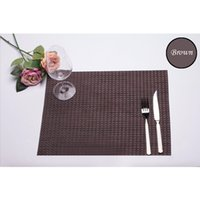 Wholesale 2016 New Cup Coaster Family Western Dinning Table Mat Waterproof PVC Placemats Bra Heat Resistant Insulation Pads Retro Woven Mats