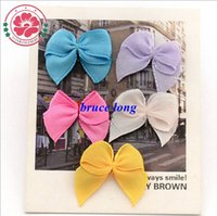 Polyester baby hair accessories apparel - Baby Girl Hair Bows Ribbons Barrettes Girls Bowknot Hairpins Headbands Children s Hair Jewelry Apparel Accessories cm