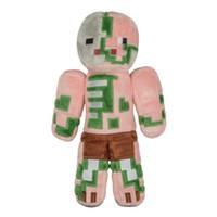 al por mayor animales disecados minecraft-Minecraft Plush Zombie Pigman Oveja negra Peluche muñeca de peluche juguetes de la muñeca