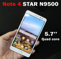 Wholesale Star N9500 Note SM N9100 Note4 Inch Quad core smartphone MTK6582 GHz Android MP Camera GB RAM GB ROM G Unlocked cellpho