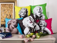 Wholesale Cushion cover sexy Marilyn Monroe pillow case soft pillows couch sofa cushion case for home decoration x45cm
