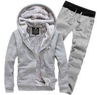 Wholesale Winter fashion new men s tracksuits hoodies pants slim fit casual sets cardigan jackets men s clothing sport suit coats outwear