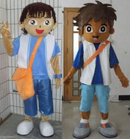 dora mascot - SW04409 a Dora and Diego mascot adult litte dora boyfriend mascot costume for adult to wear