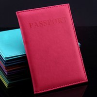 access card holder - Passport Cards PU Leather Holder Long Business Wallet Travel Documents Folder Easy Access to All Functions