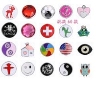 Wholesale NOOSA Alloy snap buttons fashion Ginger Snaps Metal Snap Button ginger Interchangeable Jewelry Accessory