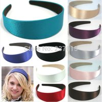 Wholesale 5pcs Candy Color Girl Lady Plastic Wide Headband Hair Band Accessory Satin Headwear New