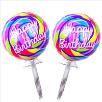 big lollipop candy - Beautiful Color Top Quality Big Lollipop Balloon Candy Balloons Baby Gifts Birthday Wedding Party Decorations Balloon