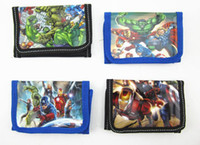 Multicolor age boy - Children wallet The Avengers Age of Ultron super heros boys and girls Purse cartoon Iron Man Hulk kids wallets cheap